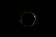 Eclipse solare totale a Novosibirsk Fotografie Stock Libere da Diritti