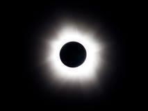 Eclipse solare totale - totalità Fotografia Stock