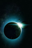 Eclipse Space Background Stock Photography