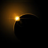Eclipse from space Royalty Free Stock Photos