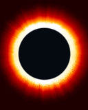 Eclipse of the Sun. Digital Sun and moon eclipse stock illustration