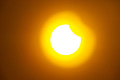 Eclipse of the sun Stock Photo