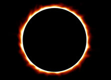 Eclipse total Imagem de Stock Royalty Free
