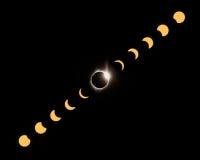 eclipse 2017 total capturado em John Day em Oregon Imagens de Stock Royalty Free