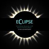 Eclipse total do sol ilustração royalty free