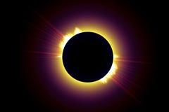 Eclipse total II Imagens de Stock Royalty Free