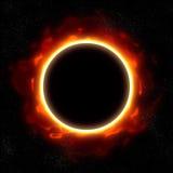 Eclipse total no espaço Imagem de Stock Royalty Free