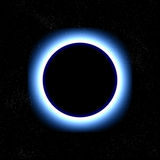 Eclipse total no espaço Fotos de Stock Royalty Free