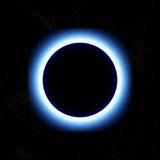 Eclipse totale nello spazio Fotografie Stock Libere da Diritti