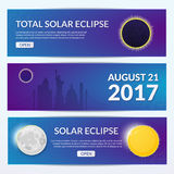 Eclipse vector illustration Royalty Free Stock Photography