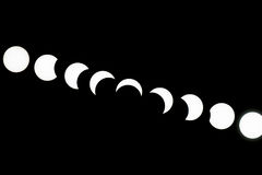 Eclipses solares--Toronto imagem de stock royalty free