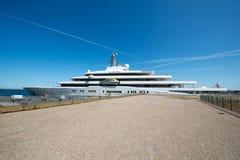 Eclissi dell'yacht fotografia stock