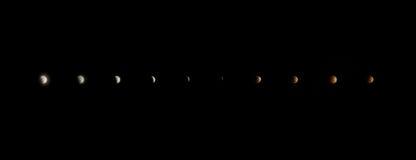 Eclissi della luna del sangue Fotografie Stock