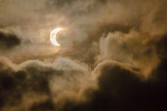 Eclissi solare alla Tailandia Immagini Stock