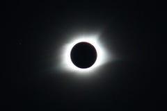Eclissi solare alla totalità Fotografie Stock Libere da Diritti