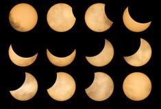 Eclissi solare di fase Immagine Stock