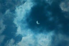 Eclissi solare 20 marzo 2015 parziale Immagine Stock