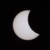 Eclissi solare parziale in Russia il 20 marzo 2015 Fotografie Stock Libere da Diritti