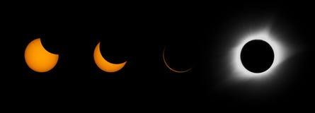 Eclissi solare totale Immagini Stock Libere da Diritti