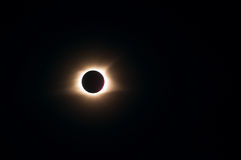 Eclissi totale 2017 Fotografie Stock Libere da Diritti