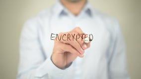 Ecnrypted IP-Verkeer, die op het transparante scherm schrijven stock video