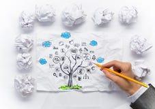 Eco世界概念 混合画法 免版税库存照片