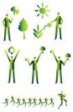 Eco人组,企业绿色 免版税库存照片