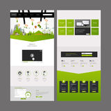 Eco企业一页网站设计模板 免版税库存图片