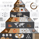 Eco信息图表 免版税库存图片