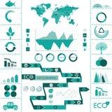 Eco信息图表 库存图片