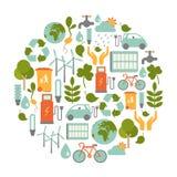 Eco卡片 免版税库存照片