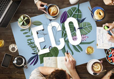 Eco友好的世界地球日绿色环境概念 免版税库存照片