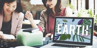 Eco友好的世界地球日绿色环境概念 免版税图库摄影