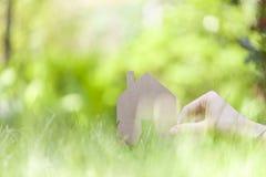 Eco友好的房子概念 免版税库存图片
