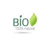 Eco友好的有机自然产品网象绿色商标 免版税库存图片