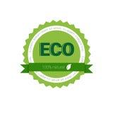 Eco友好的有机自然产品网象绿色商标 免版税图库摄影