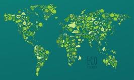 Eco友好的集合,救球地球概念 免版税图库摄影