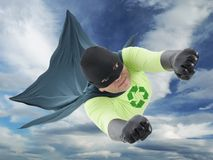 Eco超级英雄 免版税库存图片