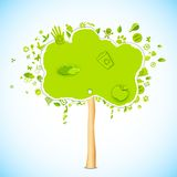 eco友好结构树 库存照片