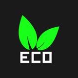 Eco叶子商标 向量 库存图片