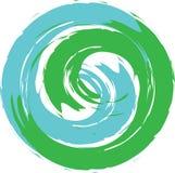 Eco商标行星地球 免版税库存图片
