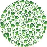 eco图标的范围 免版税库存照片