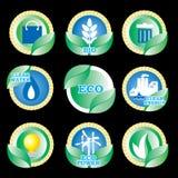 eco图标 向量例证