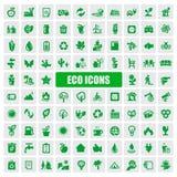 Eco图标 库存照片