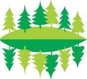 Eco在镜子的杉木概念 库存照片