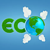 Eco地球商标 免版税库存图片