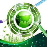 Eco地球设计背景 免版税图库摄影