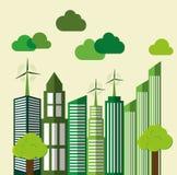 Eco大厦 城市设计 背景装饰图象风格化漩涡向量挥动 免版税图库摄影