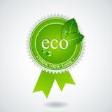 eco奖牌 库存照片