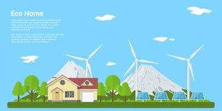 eco家庭图标向量 免版税图库摄影